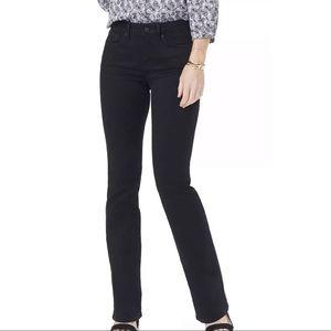 NYDJ Women's Barbara Bootcut Jeans MSRP $120 Black